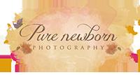 Pure Newborn photograhy blog page Rotterdam logo